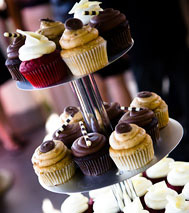 Custom-designed wedding cakes & cupcake towers for your special day